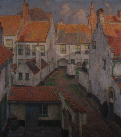 Emmanuel Vierin - Gezicht op het begijnhof - Broelmuseum