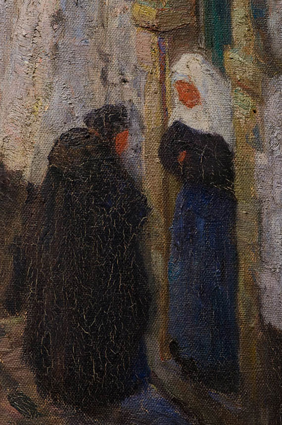 Emmanuel-Vierin-Gezicht-op-het-begijnhof-(detail) - Broelmuseum-Kortrijk