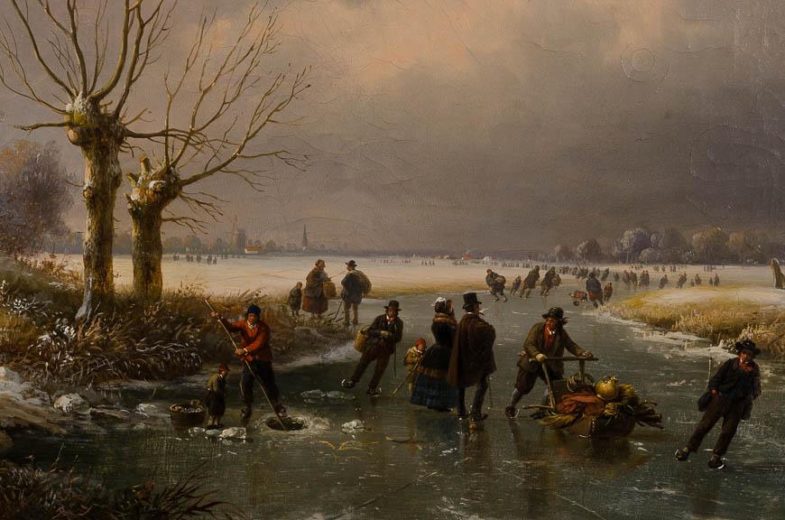 Louis-Pierre Verwee - Ijsgenoegens (detail) - Broelmuseum Kortrijk