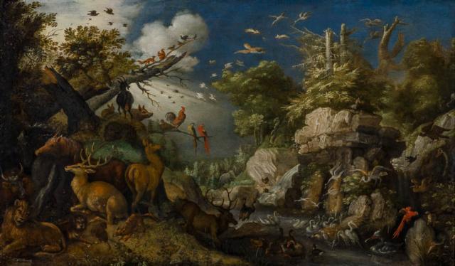 Roelandt Savery - Na de zondvloed - Broelmuseum Kortrijk