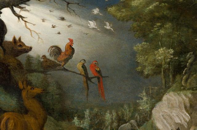 Roelandt Savery - Na de zondvloed (detail) - Broelmuseum Kortrijk