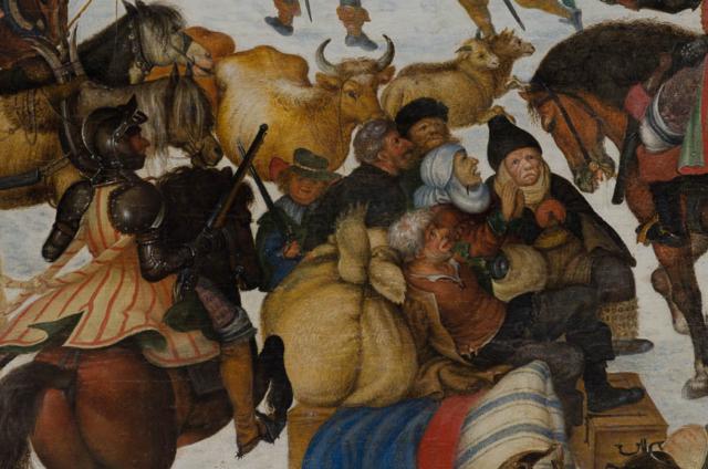 Savery Roelandt - Plundering van een dorp (detail) - Broelmuseum