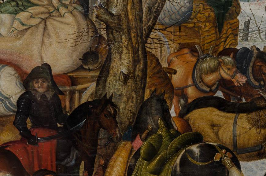 Savery Roelandt - plundering van een dorp (detai) - Broelmuseum